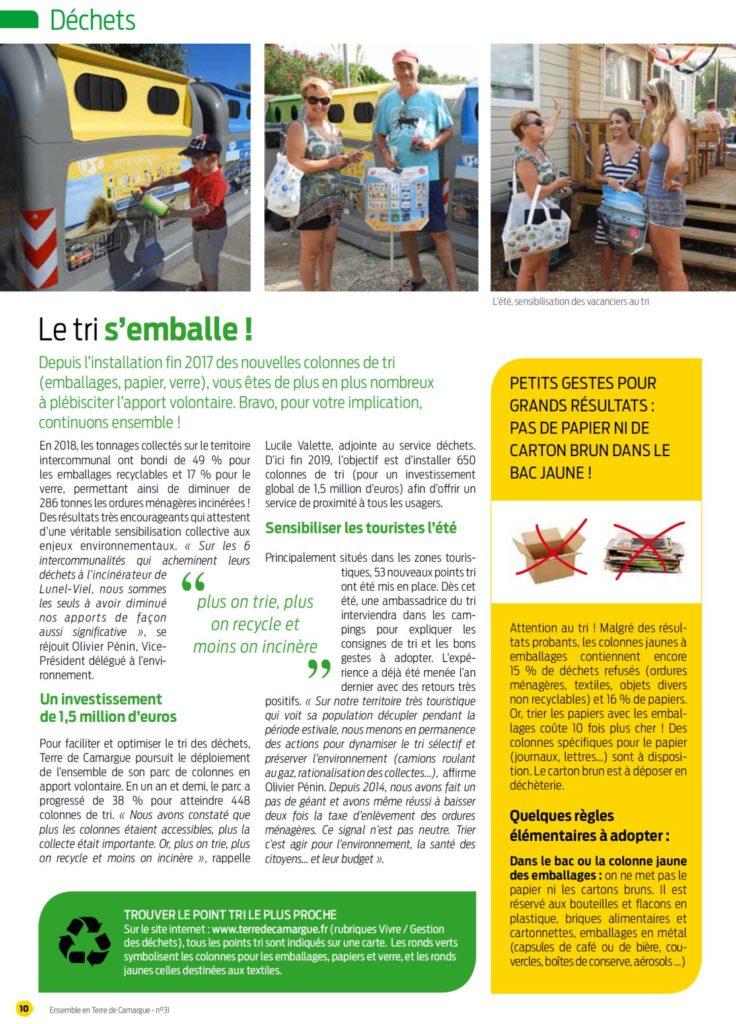 Le tri s'emballe en Terre de Camargue